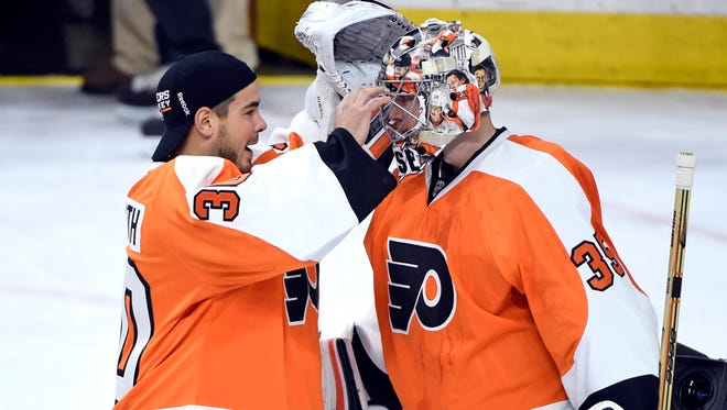 Michal Neuvirth, left, and Steve Mason are both in the last years of their respective contracts.