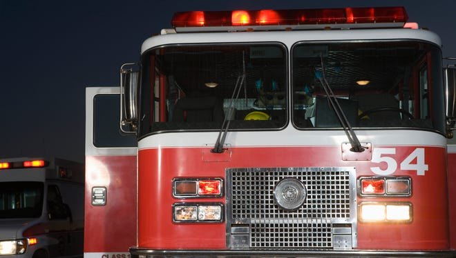 Firefighters were on the scene for almost three hours.