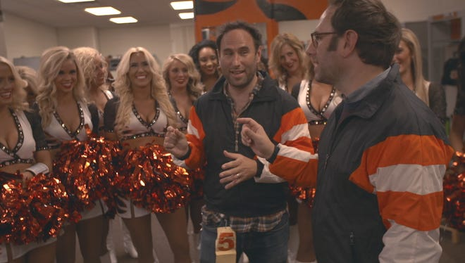 Randy and Jason Sklar joined the Ben-Gals on Oct. 11 to film an NFL Network short for NFL Now.
