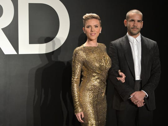 Scarlett Johansson and Romain Dauriac at the Tom Ford