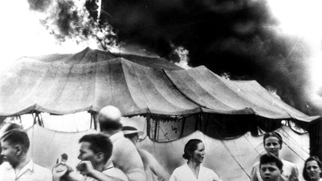 Pandemonium erupted in Hartford, Conn., on July 6, 1944, when a huge Ringling Bros. and Barnum & Bailey circus tent went up in flames with thousands of spectators inside. The blaze would kill nearly 170 people and injure up to 700 others.