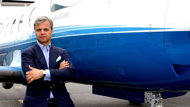 George Antoniadis, president and CEO of PlaneSense, founded the fractional airplane ownership service 25 years ago, ultimately moving the company to its current headquarters at the Portsmouth International Airport at Pease.