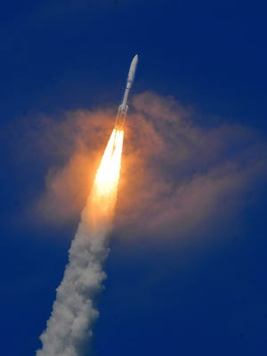 An Atlas V rocket is set to launch from Cape Canaveral Air Force Station at 9:09 a.m. today.