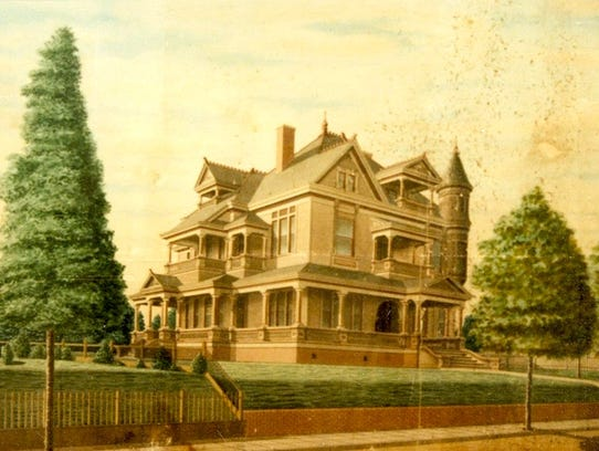 A postcard of the Ogilvie-Wiener House shows what the