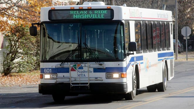 In this file photo, a Nashville MTA bus travels down Lytle Street in Murfreesboro
