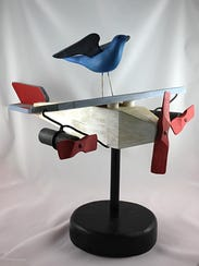 """""""Bird on Plane"""" by Ed Zahn, part of the """"Inspired"""""""