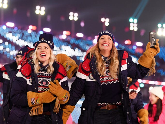 Team USA athletes enjoy the Opening Ceremony of the