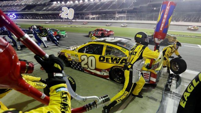 Kentuckian John Eicher works as the gas man on Matt Kenseth's NASCAR Sprint Cup Series team.