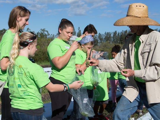 During a recent tour of Osceola Organic Farm, farmer
