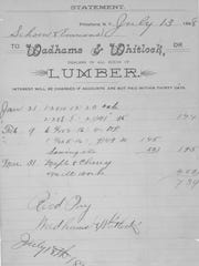 A receipt of sale from 1898, when the business was known as Wadhams & Whitlock.