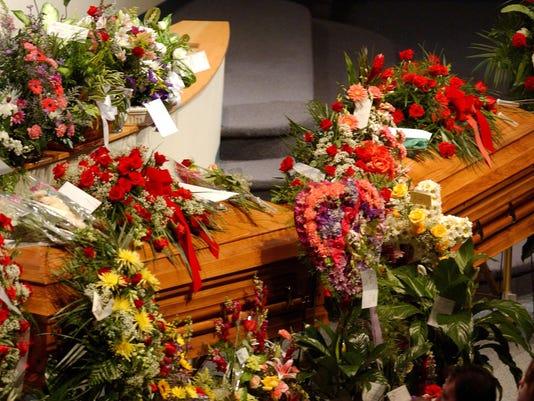 Funeral for Pullins, Popovich and Alvarez
