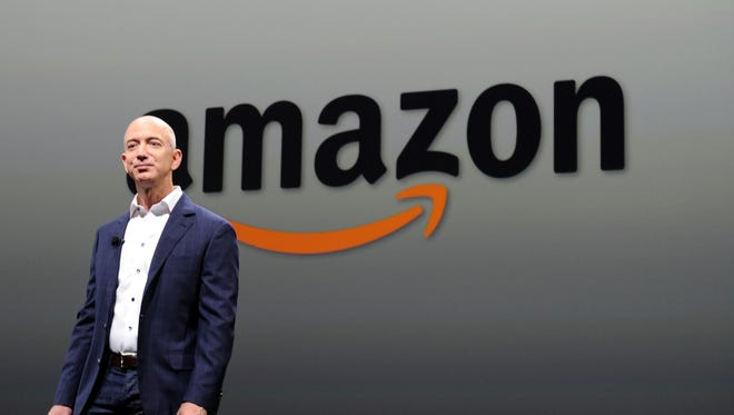 Jeff Bezos, CEO of Amazon, during a press conference in Santa Monica, Calif., on Sept. 6, 2012.