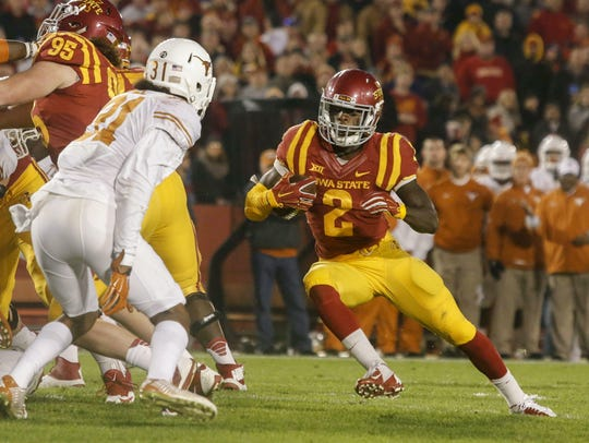 Mike Warren was once one of the brightest stars for Iowa State, including in 2015 against Texas.