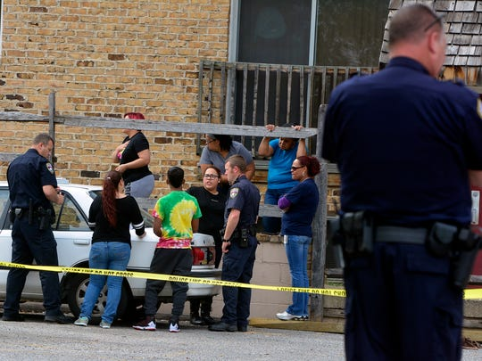 York City Police investigate a reported shooting on