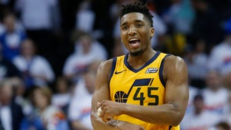 Donovan Mitchell scored a game-high 28 points for the Jazz.