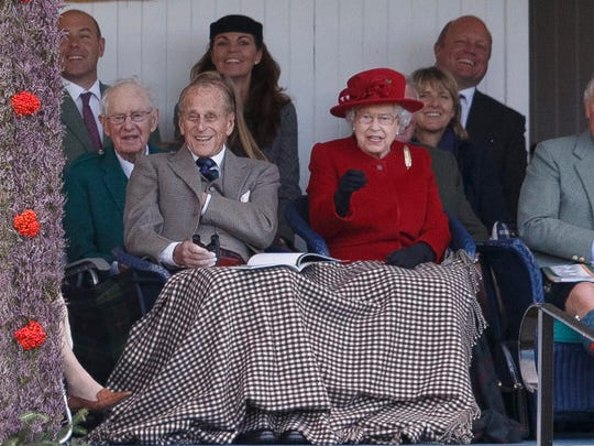 Britain's Queen Elizabeth II and her husband, Prince