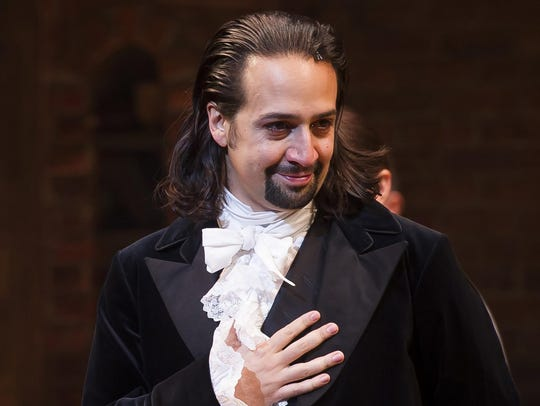Lin-Manuel Miranda as Alexander Hamilton in his hit