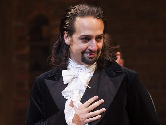 """Lin-Manuel Miranda as Alexander Hamilton in his hit musical """"Hamilton."""" He's set to reprise the role at the University of Puerto Rico from Jan. 8 to 27."""