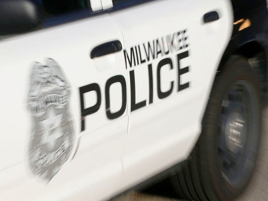 A Milwaukee police squad car.