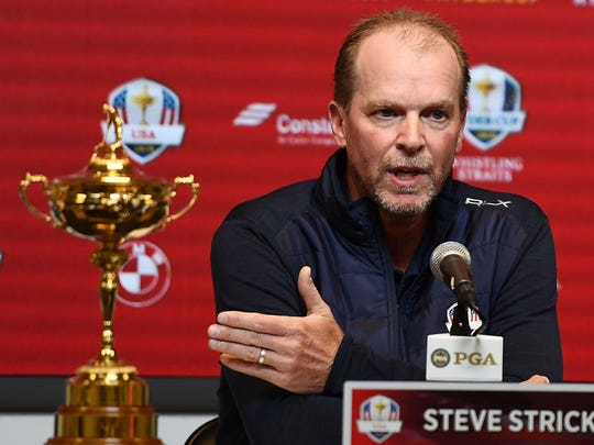 Steve Stricker speaks with the media as he is named U.S. Ryder Cup captain for 2020.