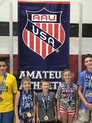 Five Michigan Matcats earned AAU Grand National All-American honors.