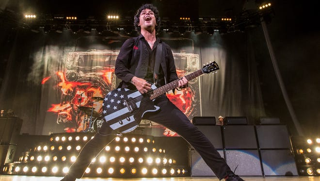 Billie Joe Armstrong performs with Green Day Wednesday at Klipsch Music Center.