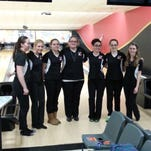 The Section 4 all-star girls bowling team pose for a photo on Sunday.