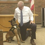 Officer David Rowland will be Rosco's handler during his time as the K9 officer at the Bucyrus Police Department.