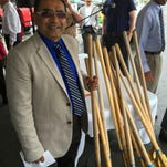 Nash Patel prepared to break ground on his company's new Home2 Suites hotel in West Monroe Thursday.