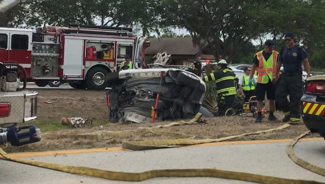 The Florida Highway Patrol reported as a double fatality a one-car crash along westbound Bayshore Road in April. Jaya Rucker, 18, and Marvin Bryer, 22, died after their vehicle lost control and crashed into a palm tree.