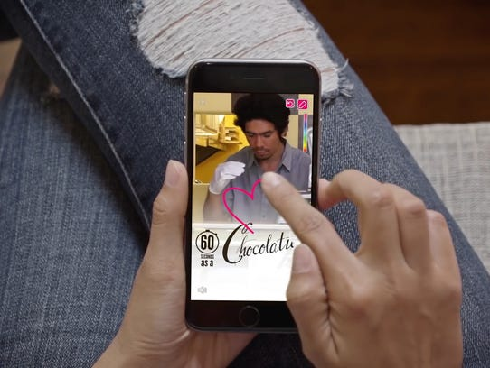 Promo shot of Snapchat user enjoying a vertical video