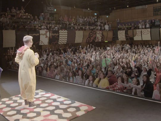 YouTube star Tyler Oakley on stage during his 'Slumber