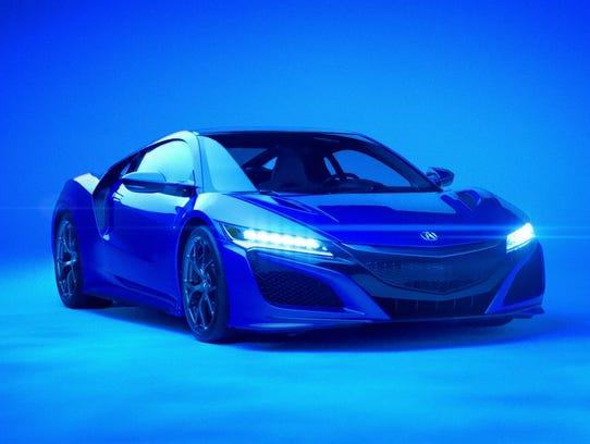 The NSX gets an eerie look in Acura's new Super Bowl