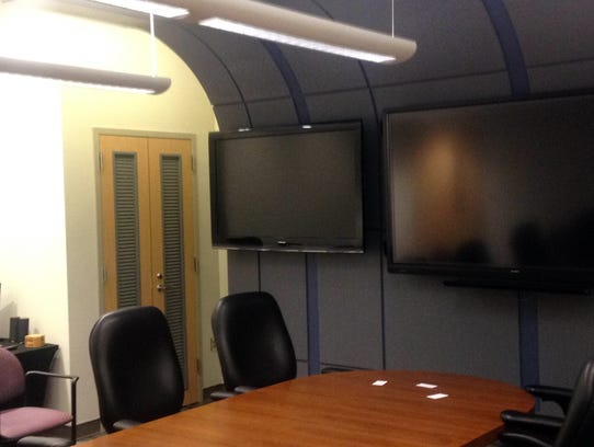 The renovated conference room at the 226th Communication
