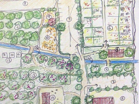 Detail of a map where Milagros Lecuona, a White Plains