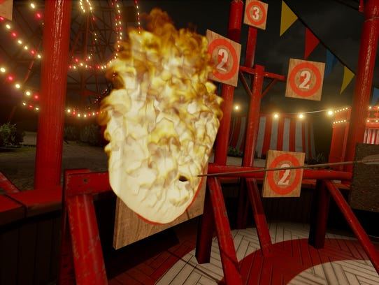 Fire Archer is one of the games inside VR Funhouse