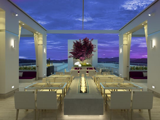 A rendering of the rooftop venue on the AC Hotel, scheduled
