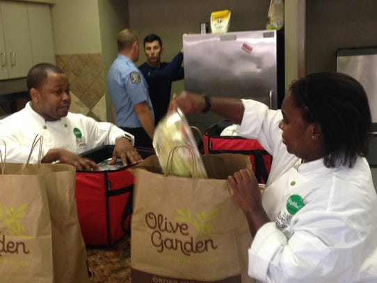 Montgomery's Olive Garden catered lunch to local Montgomery