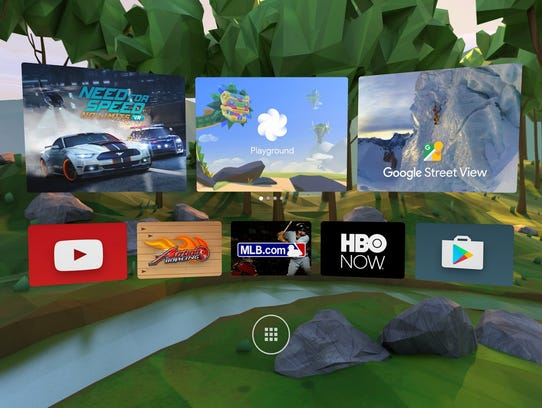 The home screen for Daydream, Google's new smartphone-based