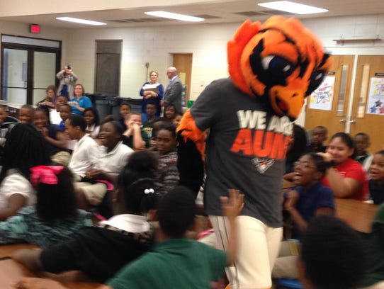 Students at Dozier Elementary School hosted on Wednesday