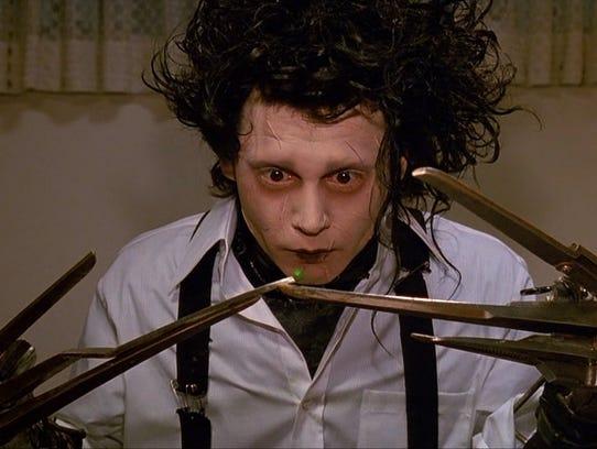 "Johnny Deep gets snippy in ""Edward Scissorhands,"" which"