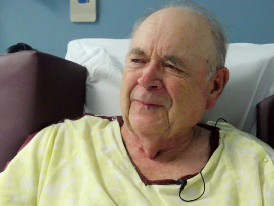 Richard Hodge, a regular patient at Upson Regional