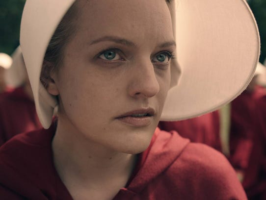 Elisabeth Moss plays Offred in Hulu's 'The Handmaid's