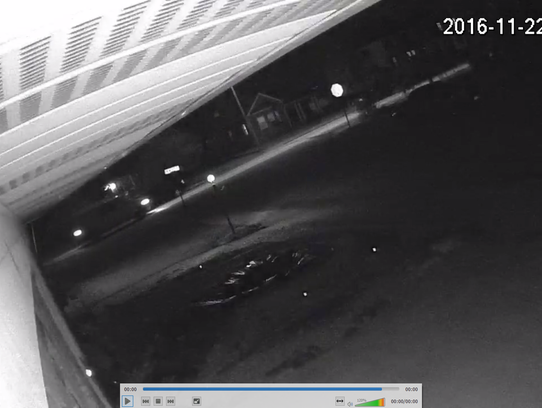 Police said the van in this surveillance image is believed