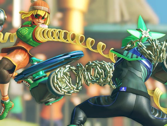 Min Min and Ninjara trade punches in ARMS for the Nintendo
