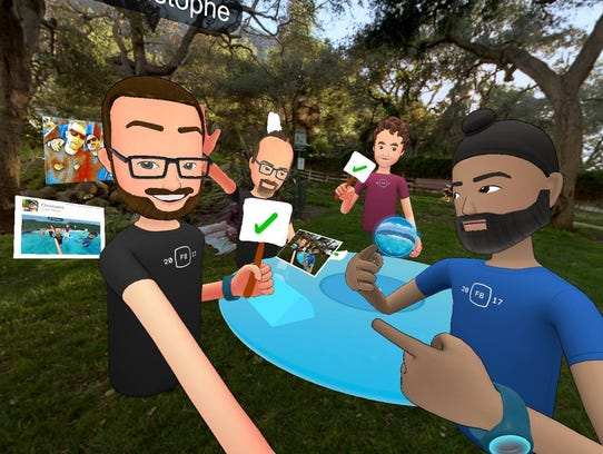 Facebook Spaces is a new social VR hang out area that