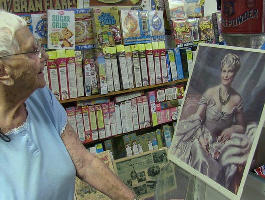 Virginia Moody of Battle Creek with an image of Marjorie