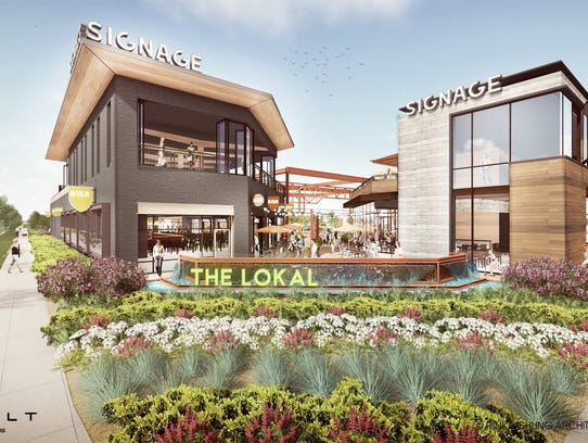 An artist rendering of The Lokal, a cluster of unique restaurants and craft breweries that will come to 84South at 84th Street and Layton Avenue.
