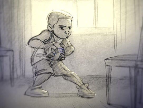 """The Oscar-nominated animated short """"Dear Basketball"""""""