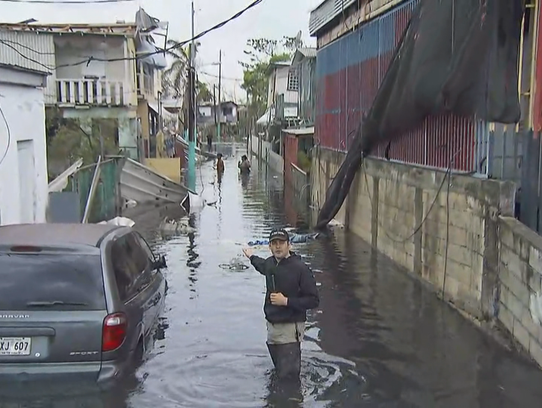 David Begnaud reports on flooding in Puerto Rico caused by Hurricane Maria.